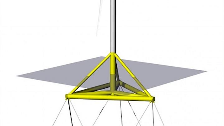 TetraSpar floating offshore wind turbine platform concept