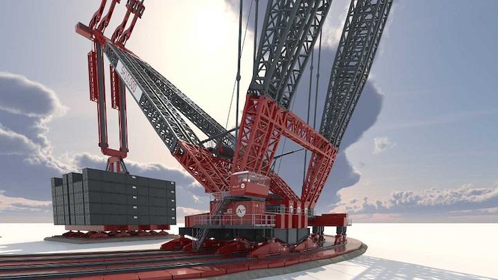 ALE's land-based crane, the SK10,000