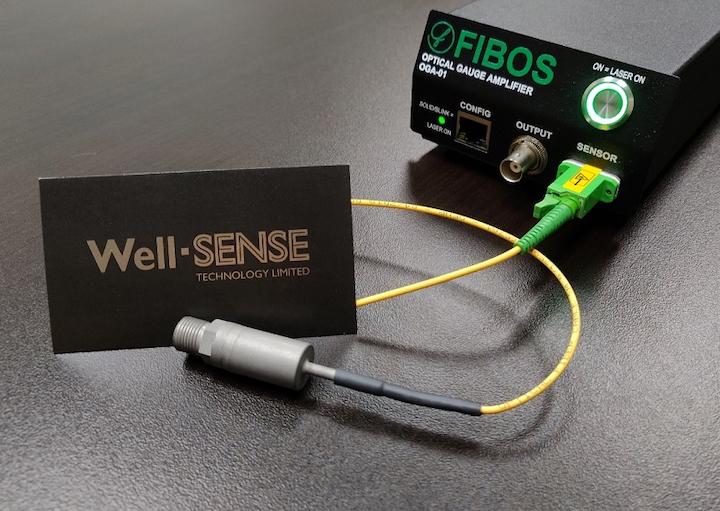 Miniature optical pressure-temperature gauge