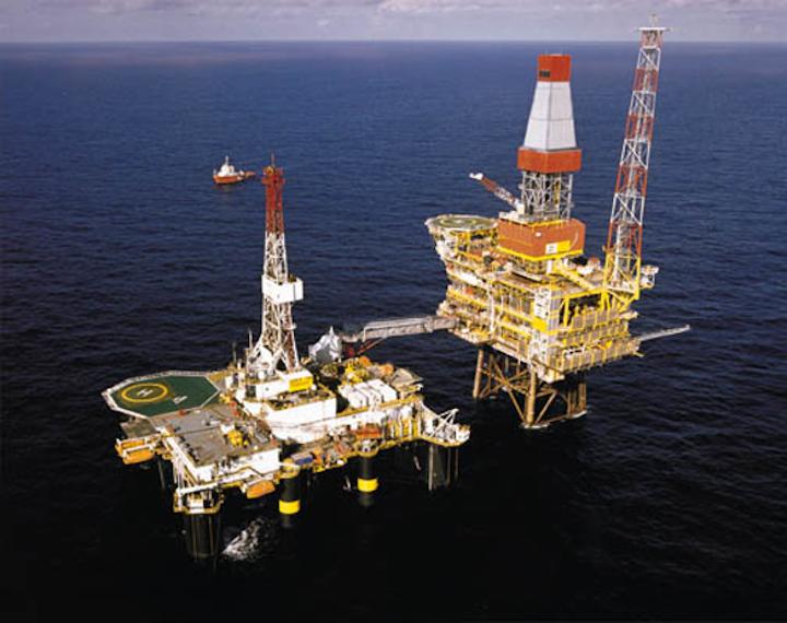 Dunbar platform in the UK northern North Sea