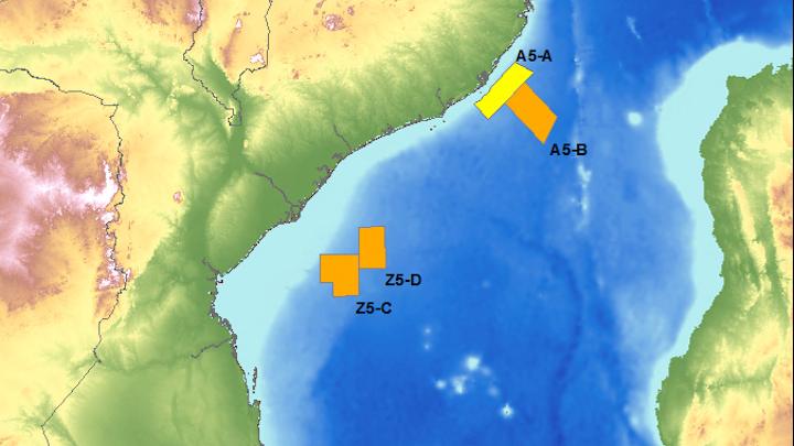 Blocks A5-B, Z5-C, and Z5-D offshore Mozambique