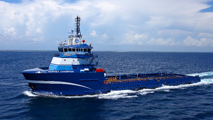 The platform supply vessel Harvey Champion will be equipped with GE's SeaGreen energy storage system.
