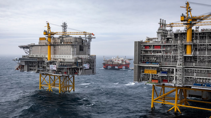 Johan Sverdrup complex in the Norwegian North Sea.