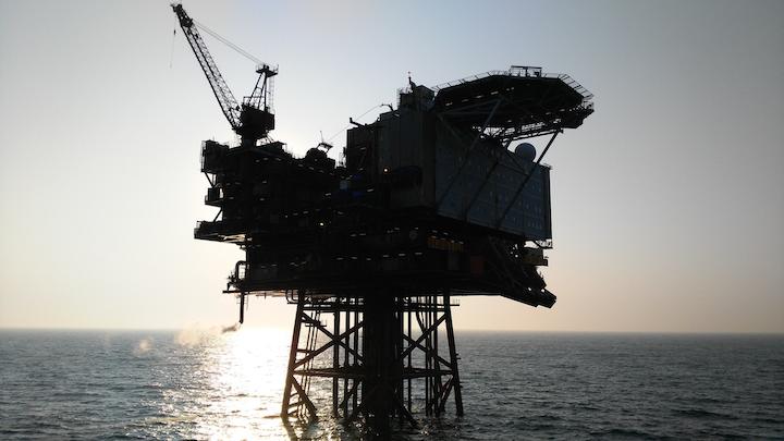 The Jotun B platform offshore Norway.