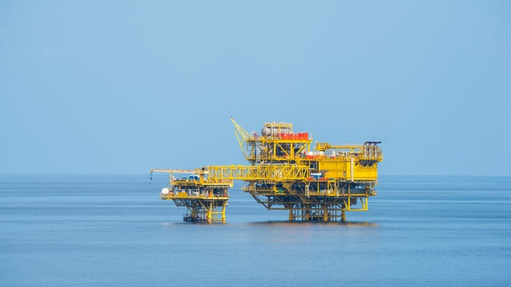 Alpha and Beta platforms on the Bualuang field offshore Thailand.