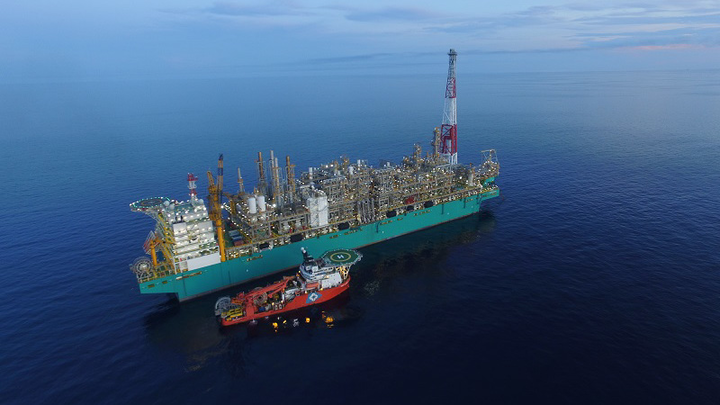 The PFLNG Satu at the Kebabangan cluster field offshore Sabah.