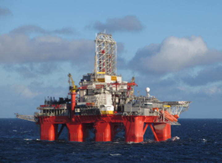 The semisubmersible Transocean Spitsbergen will drill well 16/5-7 in production license 502.