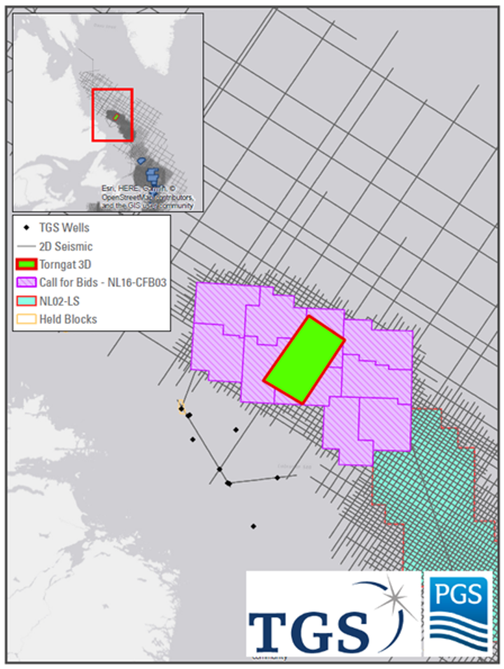 Torngat 3D will be the first 3D seismic survey ever acquired offshore Labrador.