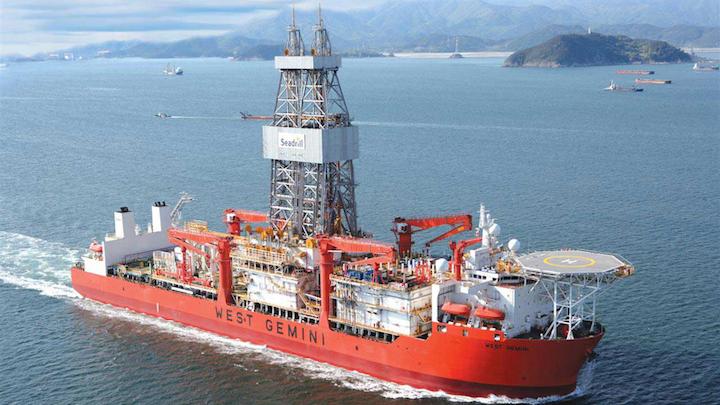 The ultra-deepwater drillship West Gemini