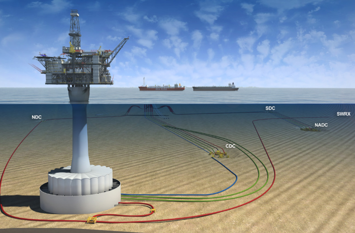 The $1.6-billion West White Rose development calls for a fixed wellhead platform consisting of a concrete gravity structure and an integrated topsides tied back to the SeaRose FPSO via subsea infrastructure.
