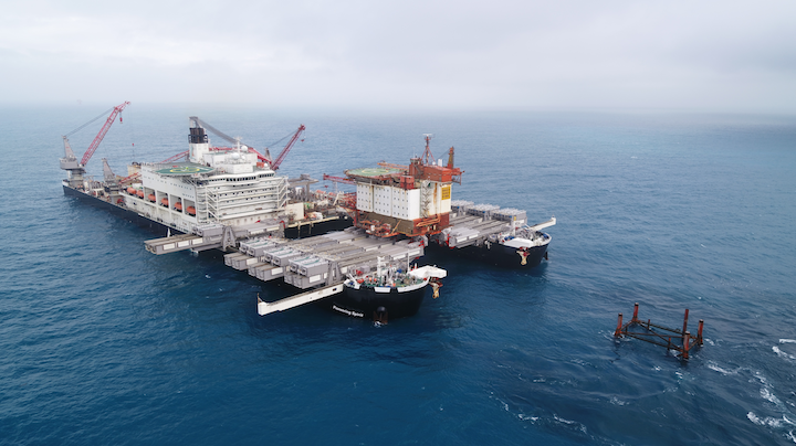 The 3,800-ton Valhall QP topsides is the lightest that the Pioneering Spirit has lifted to date.