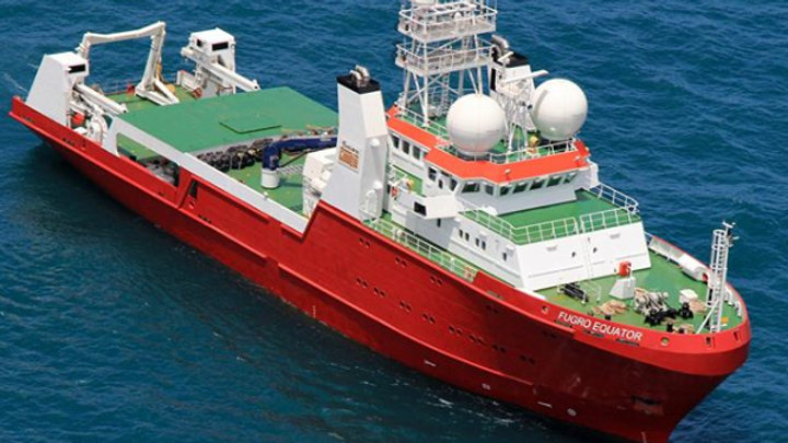 The Fugro Equator vessel acquired geophysical data including multibeam echosounder and sub-bottom profiler data offshore Sabah, Malaysia.
