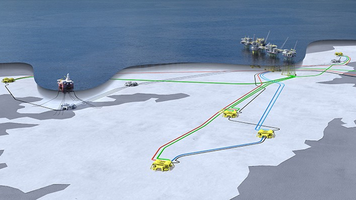 Johan Sverdrup Phase 2 subsea layout.