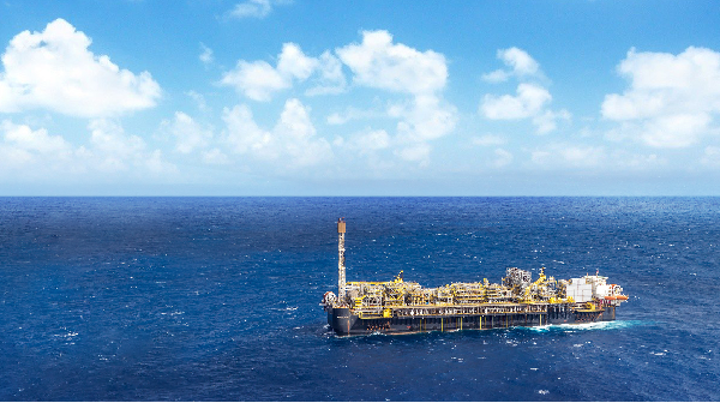 The FPSO P-66 is deployed in the Lula Sul field in the deepwater presalt Santos basin.