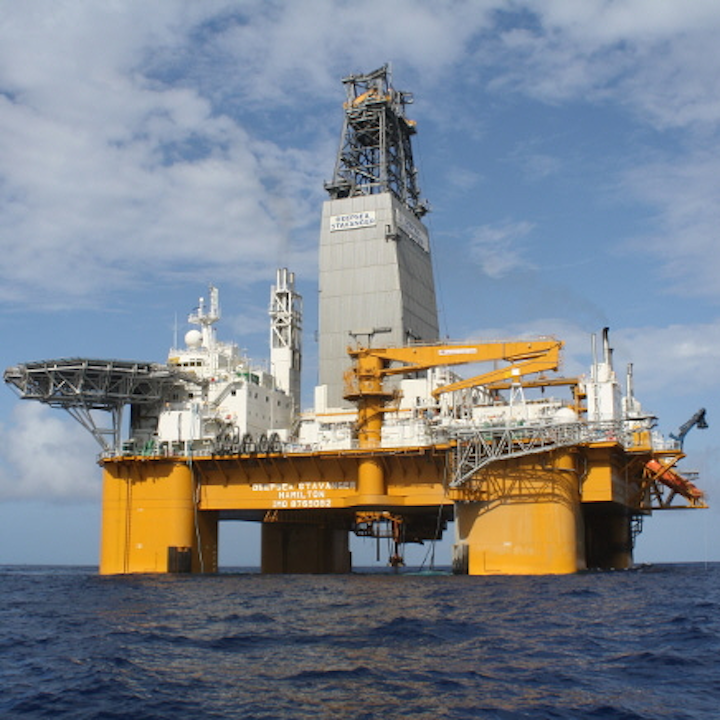 For Aker BP, the semisubmersible Deepsea Stavanger will drill well 6608/6-1 in production license 762 in the Norwegian Sea.