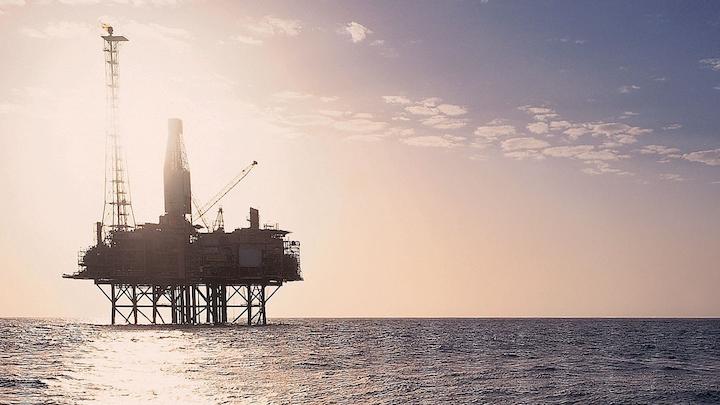 The Goodwyn A platform offshore Western Australia.