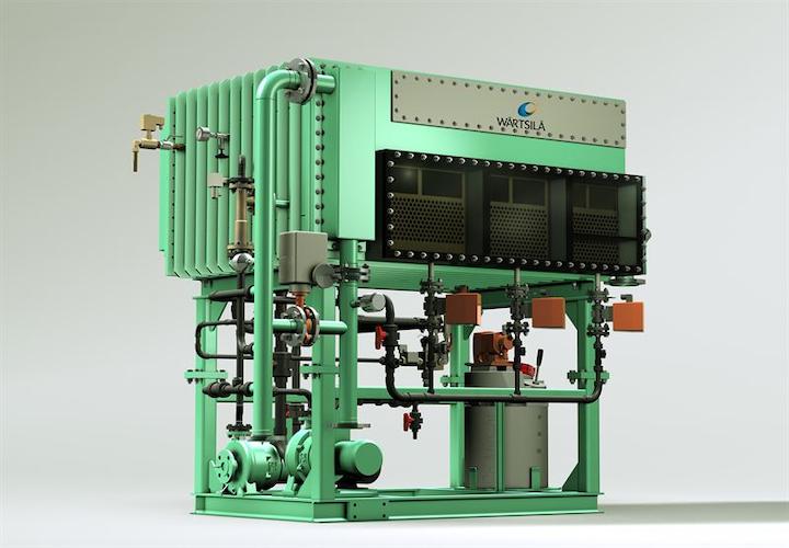 The Wärtsilä HiTE fresh water production system handles small to medium capacity requirements.