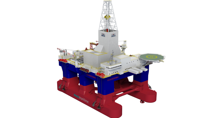 Rendering of Moss CS60 ECO semisubmersible drilling rig.