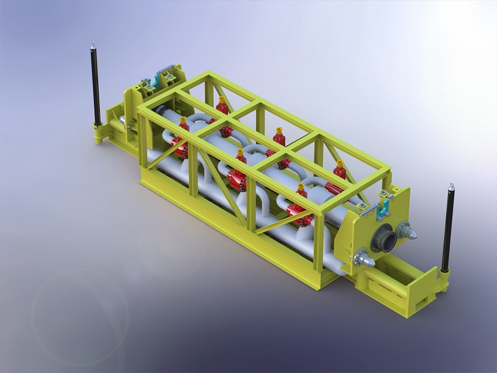 In-pipeline liquid removal unit for the pseudo dry gas system.