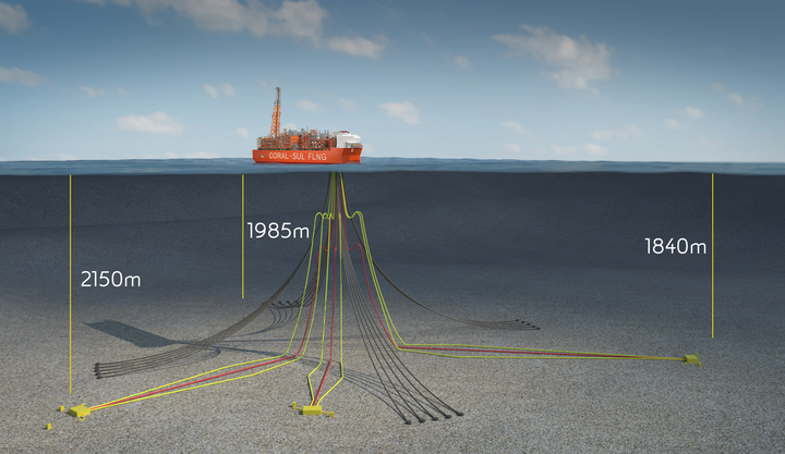 Coral South FLNG is Mozambique's first deepwater gas field development.
