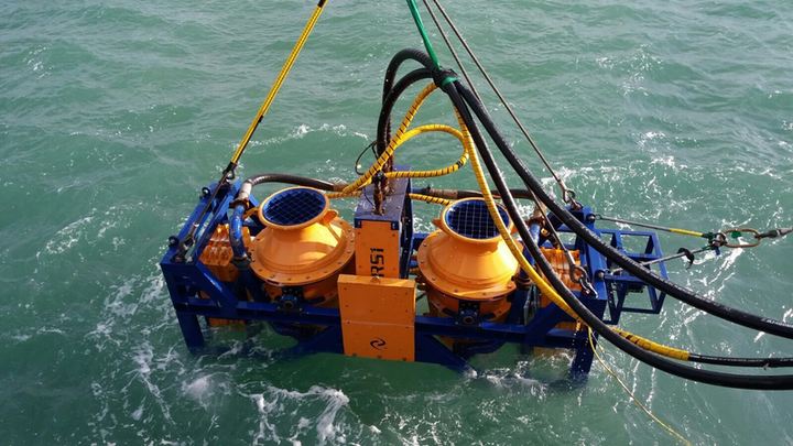 The TRS1 controlled flow excavation tool was used to perform cable de-burial and retrenching at an offshore wind farm in the North Sea.