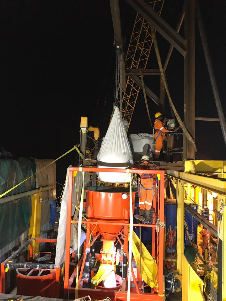 ULO equipment, products and manpower onsite at Perenco's Lucina gas line in Gabon.