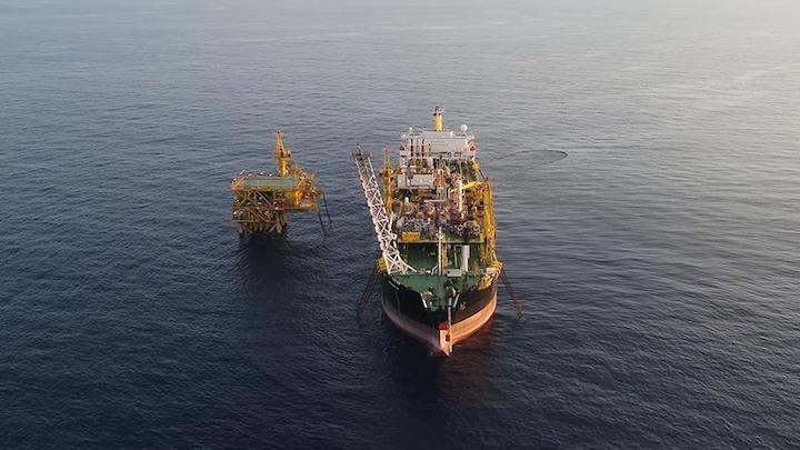 The Bertam field facilities offshore Malaysia.