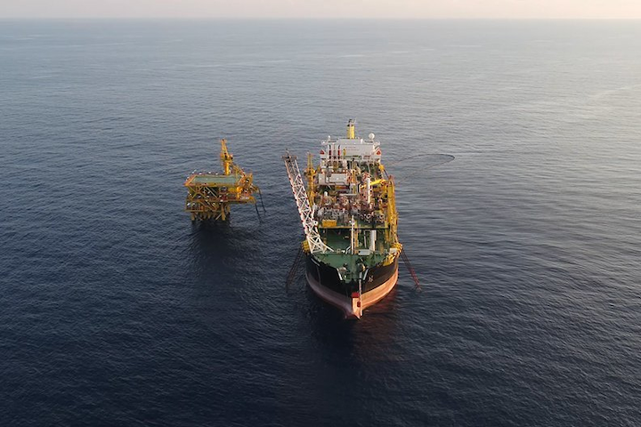 The Bertam field facilities offshore Malaysia.
