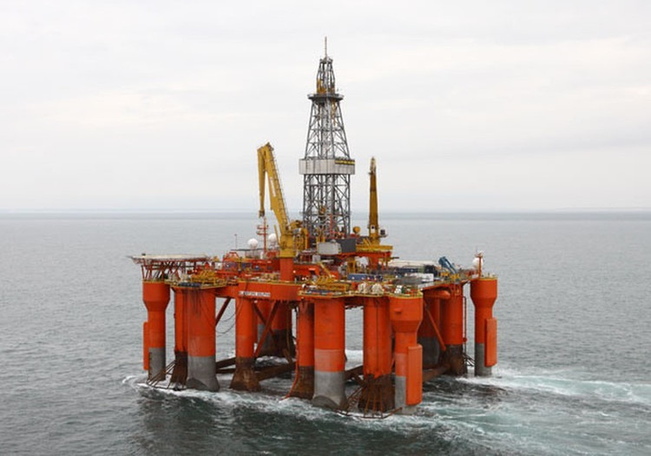 The semisubmersible drilling rig Blackford Dolphin.