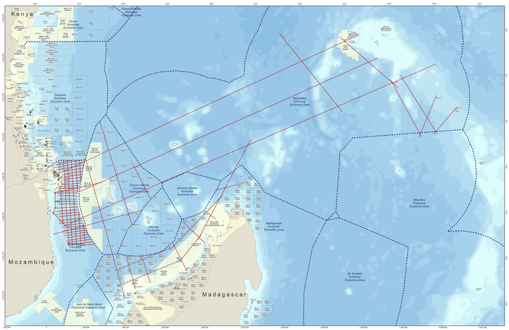 Map showing location of CGG's proposed East Africa regional multi-client survey.
