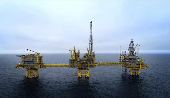 The Culzean field development involved drilling six wells, construction of three bridge-linked platforms and an FSO unit.