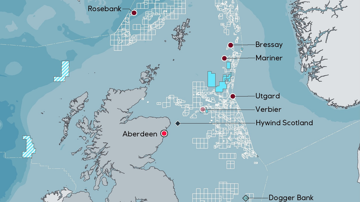 Rosebank is about 130 km (81 mi) northwest of the Shetland Islands in water depths of approximately 1,110 m (3,641 ft).