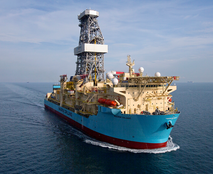 The Maersk Valiant is a 7th generation drillship with managed pressure drilling capability.