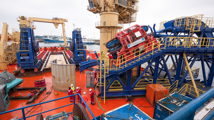 Mobilization of a second-generation reel drive system onboard the Normand Clipper.
