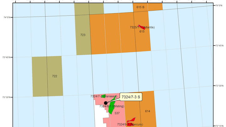 Wisting is in license PL 537 in the Barents Sea.