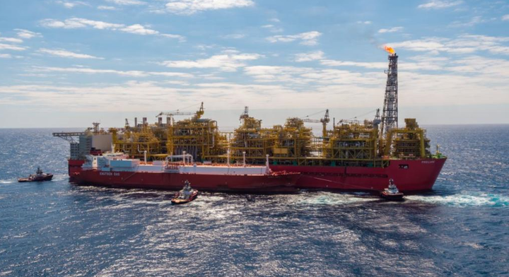 The Valencia Knutsen, a Spanish-flagged tanker, is transporting the LNG cargo from the Prelude complex in block WA-44-L.