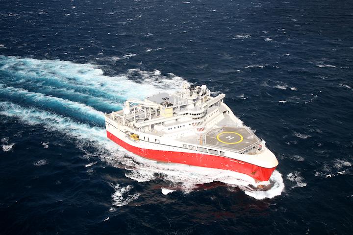 The Ramform Atlas is conducting the Jeanne d'Arc High Density 3D multi-client survey offshore Newfoundland.