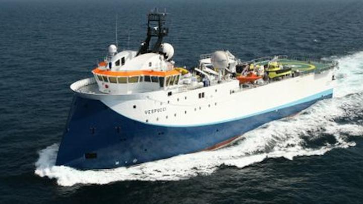 The SW Vespucci will acquire 200 sq km (77 sq mi) of the 3D data over the Apsara development area offshore Cambodia.