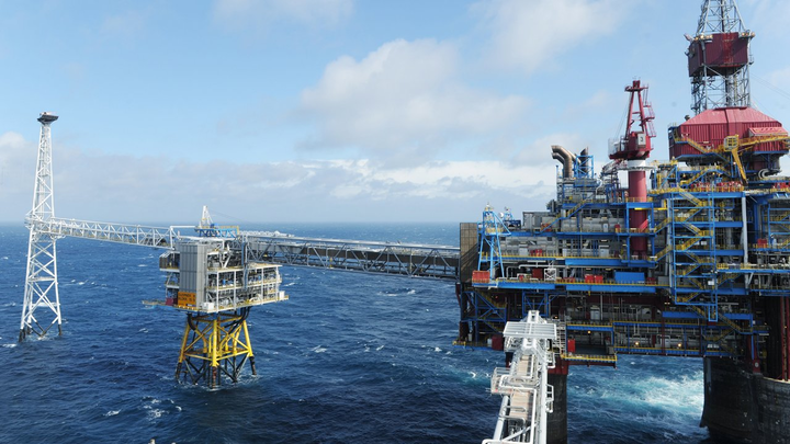 The Sleipner field in the North Sea.