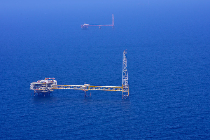 The SPD9 platform in the South Pars gas field offshore Iran.