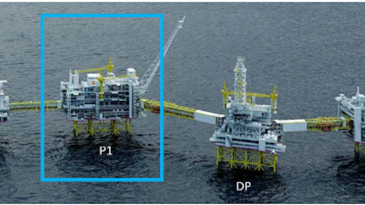 Location of the Johan Sverdrup Phase 1 processing platform.