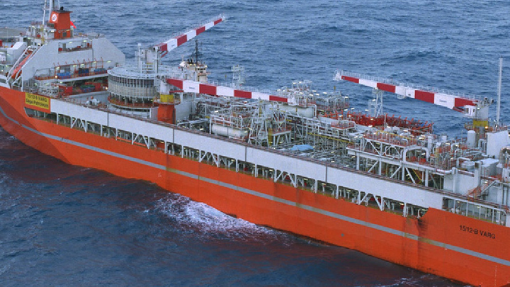 The FPSO Petrojarl Varg formerly produced oil at the Varg field in the southern Norwegian North Sea.