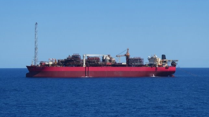 The FPSO Ngujima-Yin produces oil from the Vincent field offshore Western Australia.