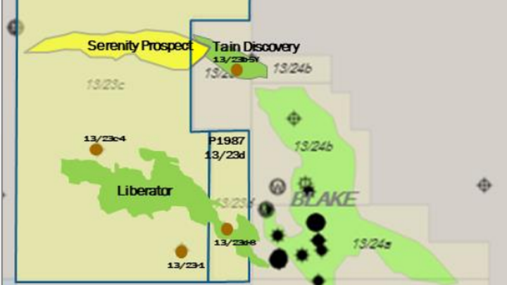 The Liberator and Serenity prospects are in the UK central North Sea.
