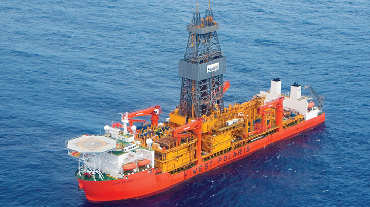 The drillship West Polaris has received a one-well contract from PC Gabon Upstream S.A.