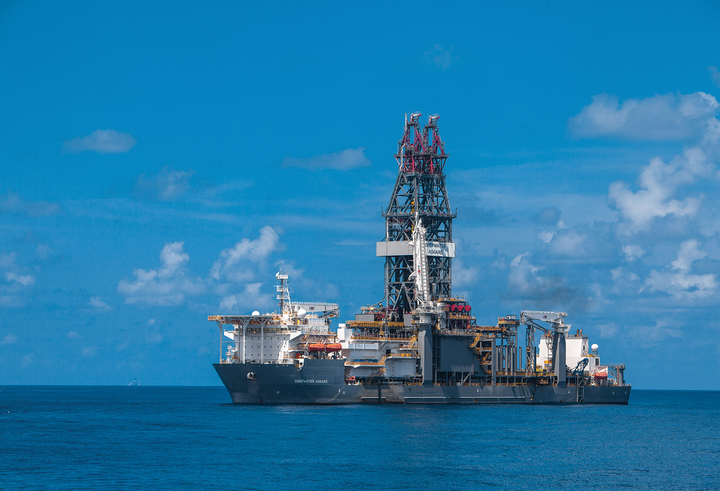 The ultra-deepwater drillship Deepwater Asgard is working on behalf of Murphy Oil in the Gulf of Mexico.