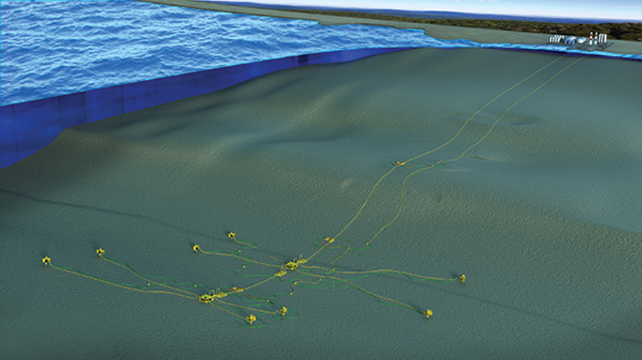 The Pseudo Dry Gas liquid removal system is said to eliminate the need for topsides and compression. (Courtesy INTECSEA)