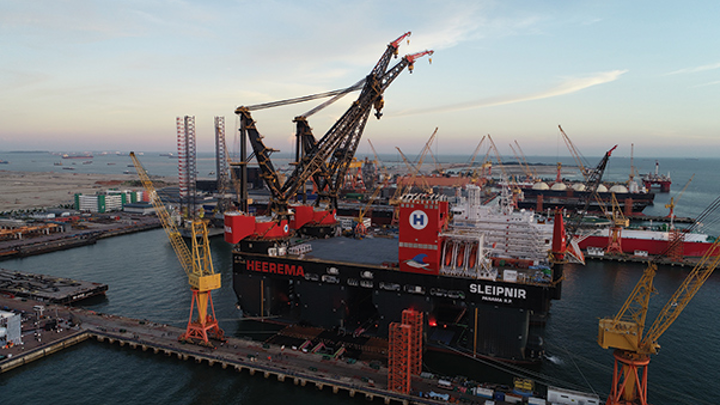 The semisubmersible crane vessel Sleipnir is named after the Norse God Odin's eight-legged stallion.