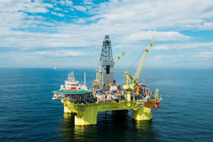 The semisubmersible COSLPromoter will drill eight production wells for the Troll Phase 3 field development in the North Sea.