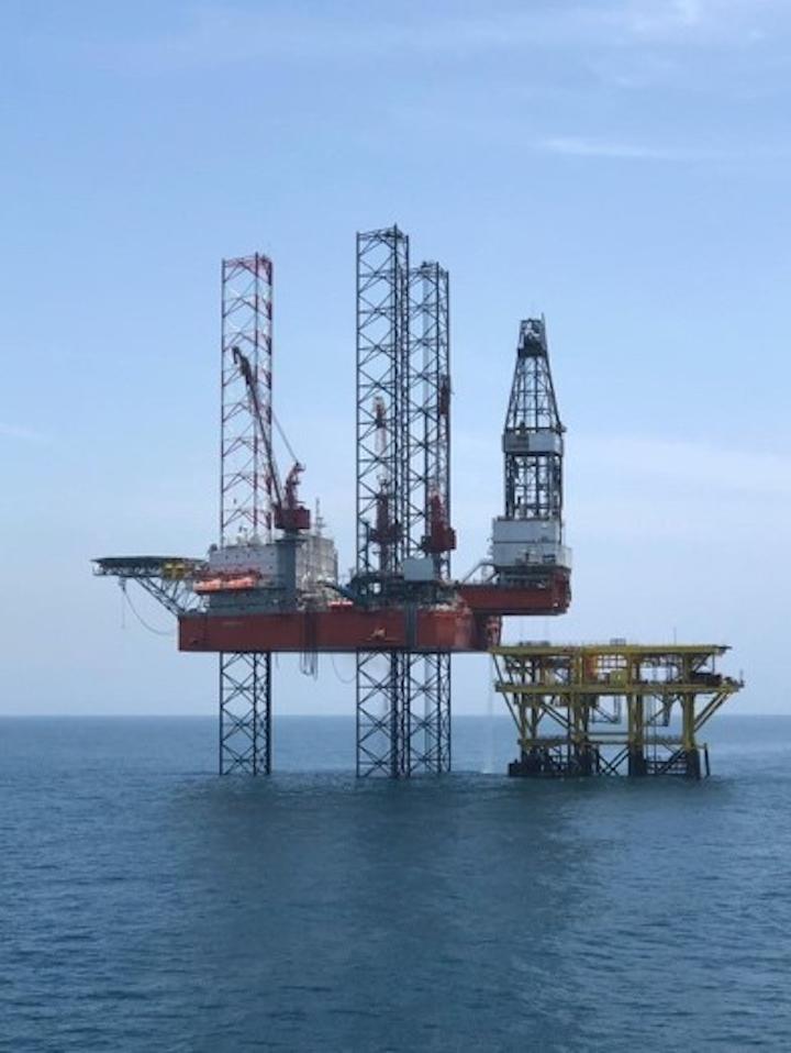The jackup drilling rig Cantarell IV.